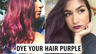 I DYED MY HAIR PURPLE (NO BLEACH) // MANIC PANIC PURPLE HAZE   javi