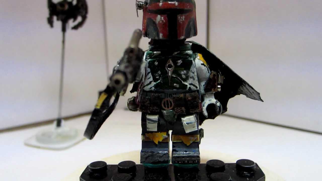Righknightcustoms Custom Lego Star Wars Boba Fett Mini Figure Hd