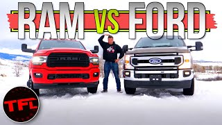 Here's What You Gain ( And Lose) When You Spend $30K More on a HD Truck: 2020 Ram 3500 vs Ford F-250