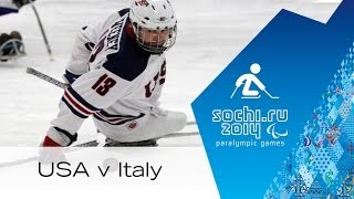 Usa V Italy Full Game | Group Stage| Ice Sledge Hockey | Sochi 2014 Paralympic Winter Games