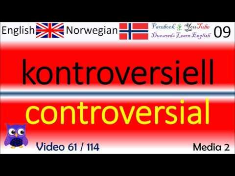 61 Media 2 Norsk - Engelske Ord / Norwegian - English Words / Engelsk Ord