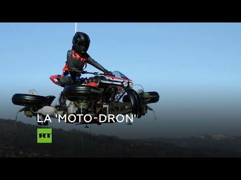 Anuncian la producción de la primera moto voladora de la historia: ¿Cómo será?