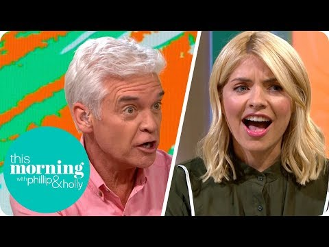 Holly and Phillip Have a Strop Over 'Guess the Gadget'   This Morning