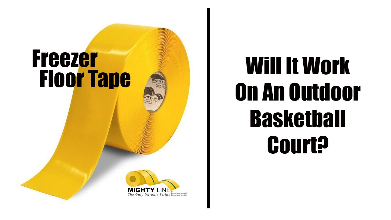 Mighty Line Freezer Tape On An Outdoor Basketball Court