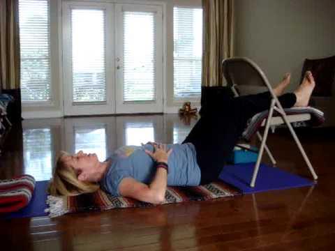 Restorative Yoga Pose_ Legs in Chair.mpg - YouTube