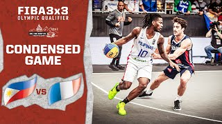 Philippines V France   Men's - Condensed Game   FIBA 3x3 Olympic Qualifier