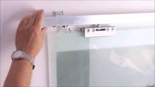 Раздвижные стеклянные двери с доводчиком(, 2015-03-03T19:22:49.000Z)