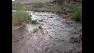 flash flood on virgin river 08 19 2012