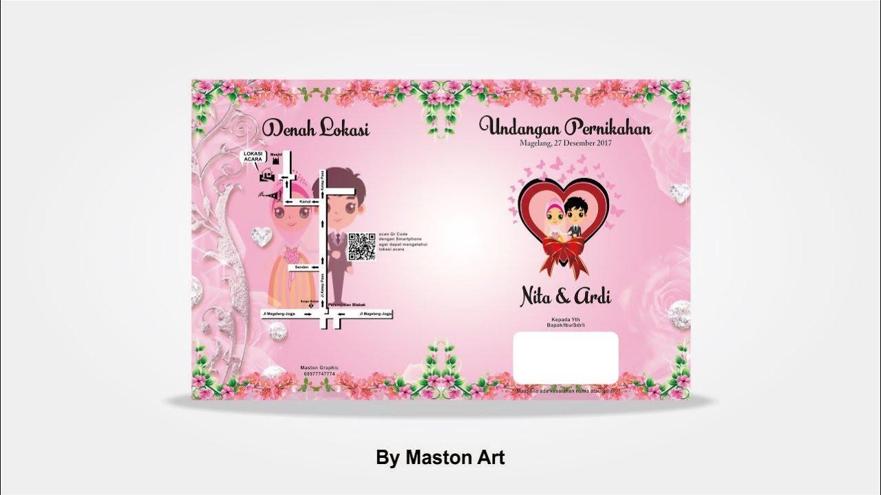 Tutorial Coreldraw Pemula Custom Cantik Undangan Pernikahan Part1