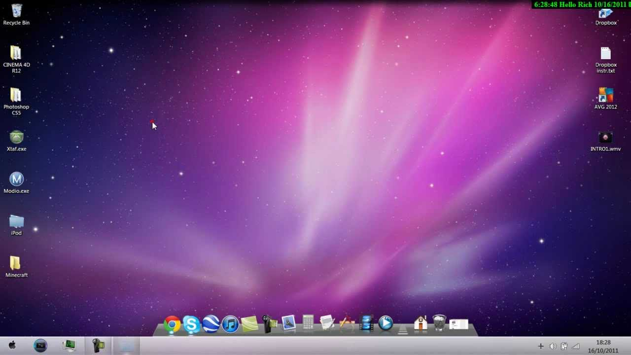 How To Get 100 Full Mac Theme For Windows 7 Youtube