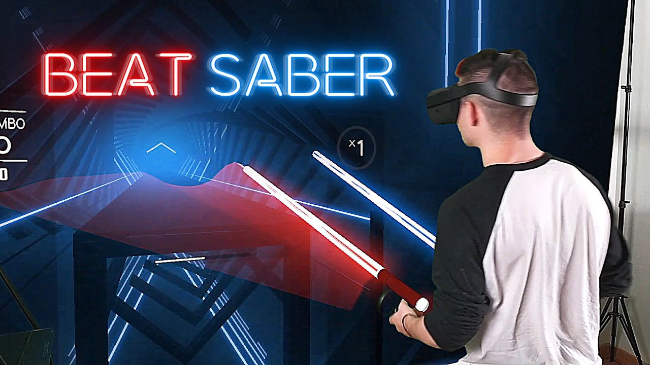 Beat Saber en realité virtuelle mixte (excellent)