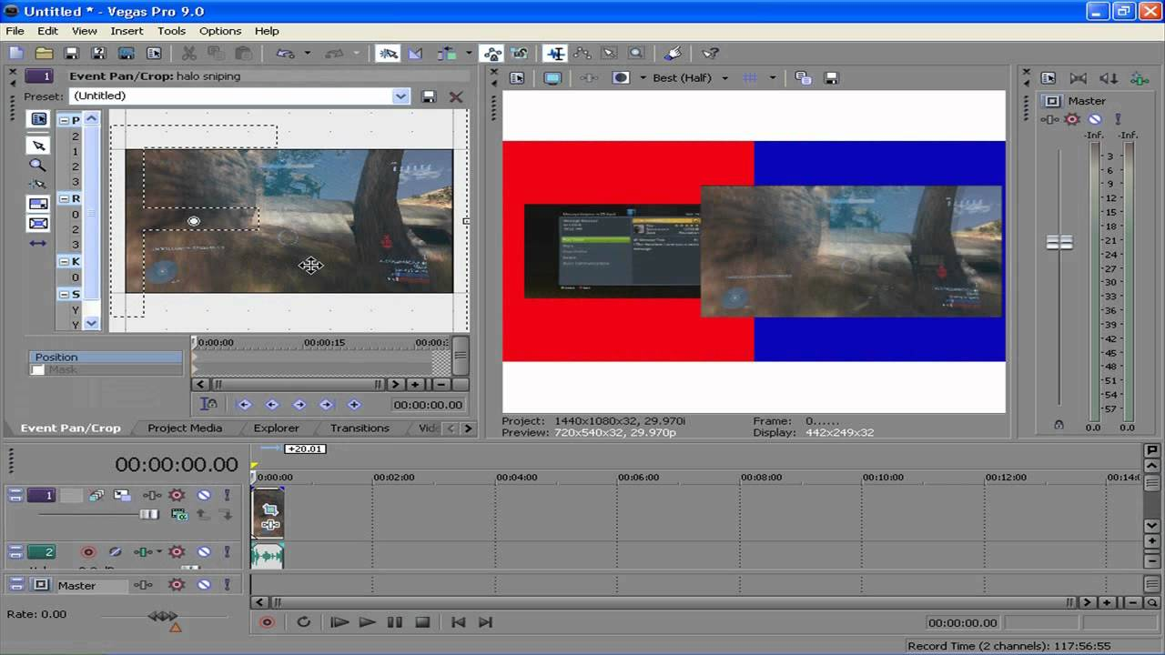 how to make video intense sony vegas pro