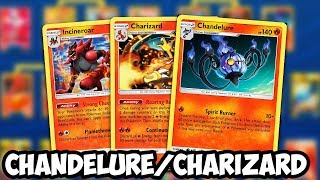 NEW Chandelure/Charizard Deck! Getting Stage 2s in Play For FREE! Unified Minds PTCGO