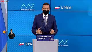 Koronawirus w Polsce. Konferencja prasowa premiera Morawieckiego