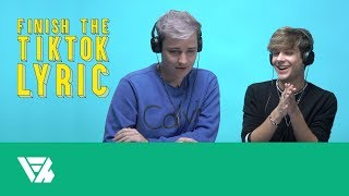 Finish the TikTok Lyric: Nathan Triska and Curtis Newbill