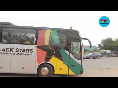 2018 WCQ: Black Stars arrive at Cape Coast Stadium for final training session
