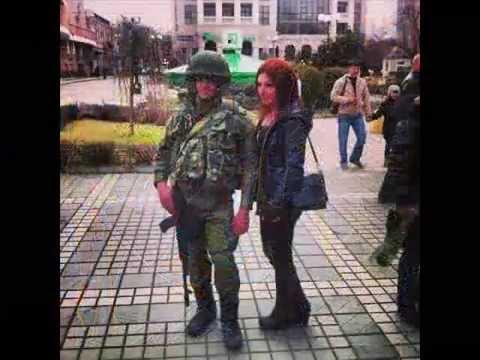 KZ2372 Polite people in the Crimea in March 2014