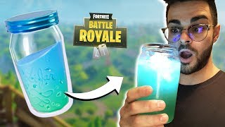 COMMENT FAIRE LA POTION FORTNITE ! (DIY Facile et Comestible)