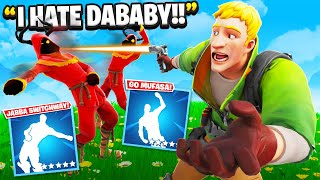 I Trolled Him With NEW DaBaby Emotes.. (Fortnite)