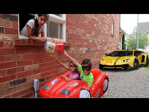 McDonald's Drive Thru Prank Funny Kids  on Disney Cars McQueen Power Wheels  Ride On Car