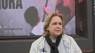 HazteOir presenta sus vehículos 'Llegó la hora' para echar a Pablo Iglesias de la política española