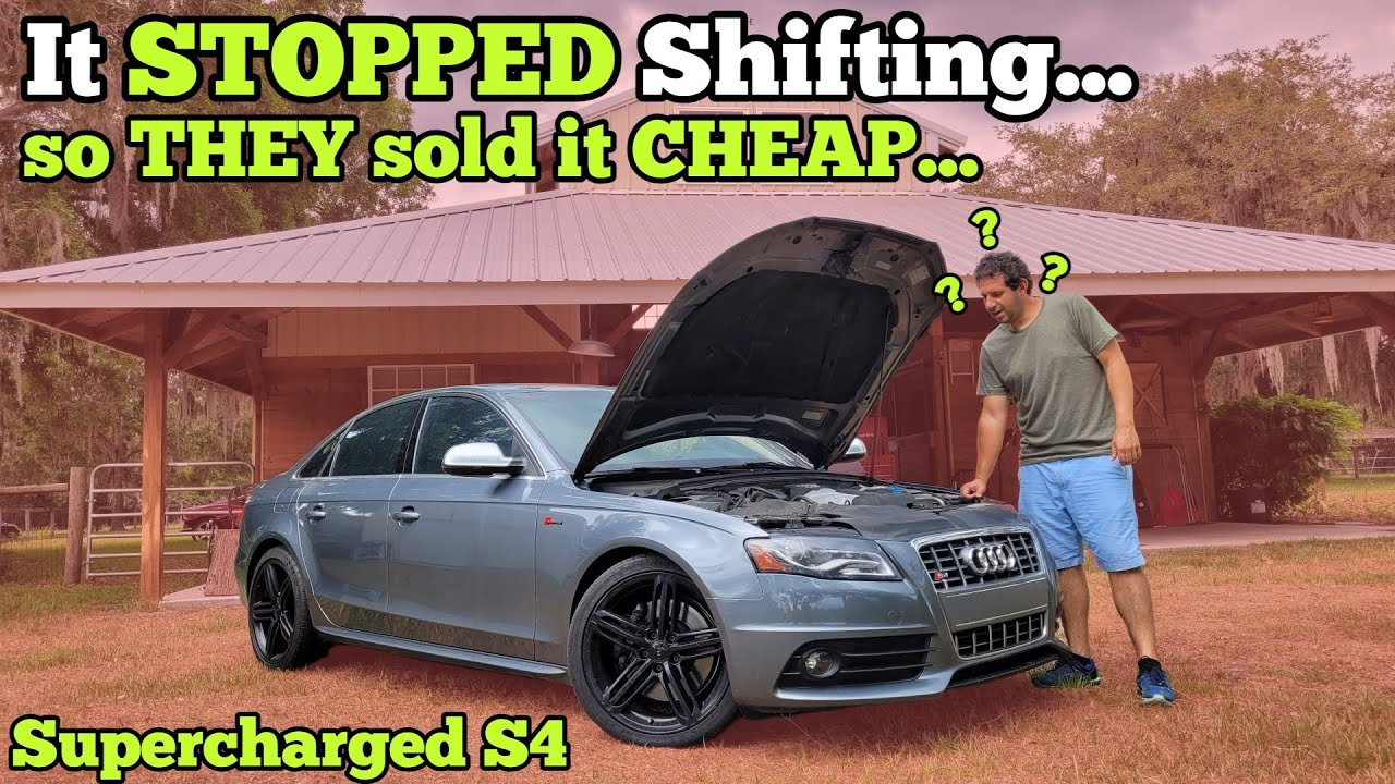 I Bought a Supercharged Audi at Auction and got 50% off because of a Mystery Transmission Issue