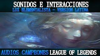 Lux Elementalista | Voces e Interacciones (LATINO) | League of Legends
