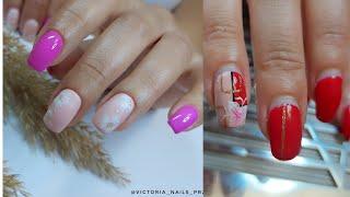 Аппаратный маникюр Укрепление ногтей акриловой пудрой Очень лёгкий дизайн ногтей Для новичка