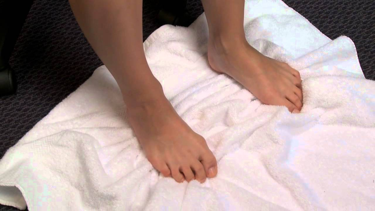 c77514db779 Foot   Ankle Exercise  Towel Toe Curls - YouTube