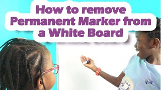 How to Remove Permanent Marker from a White Board