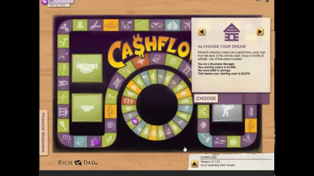 how to win cashflow 101 richdad com youtube