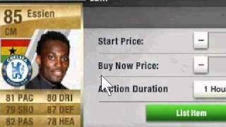 Fifa 11 Ultimate Team Michael Essien Competition