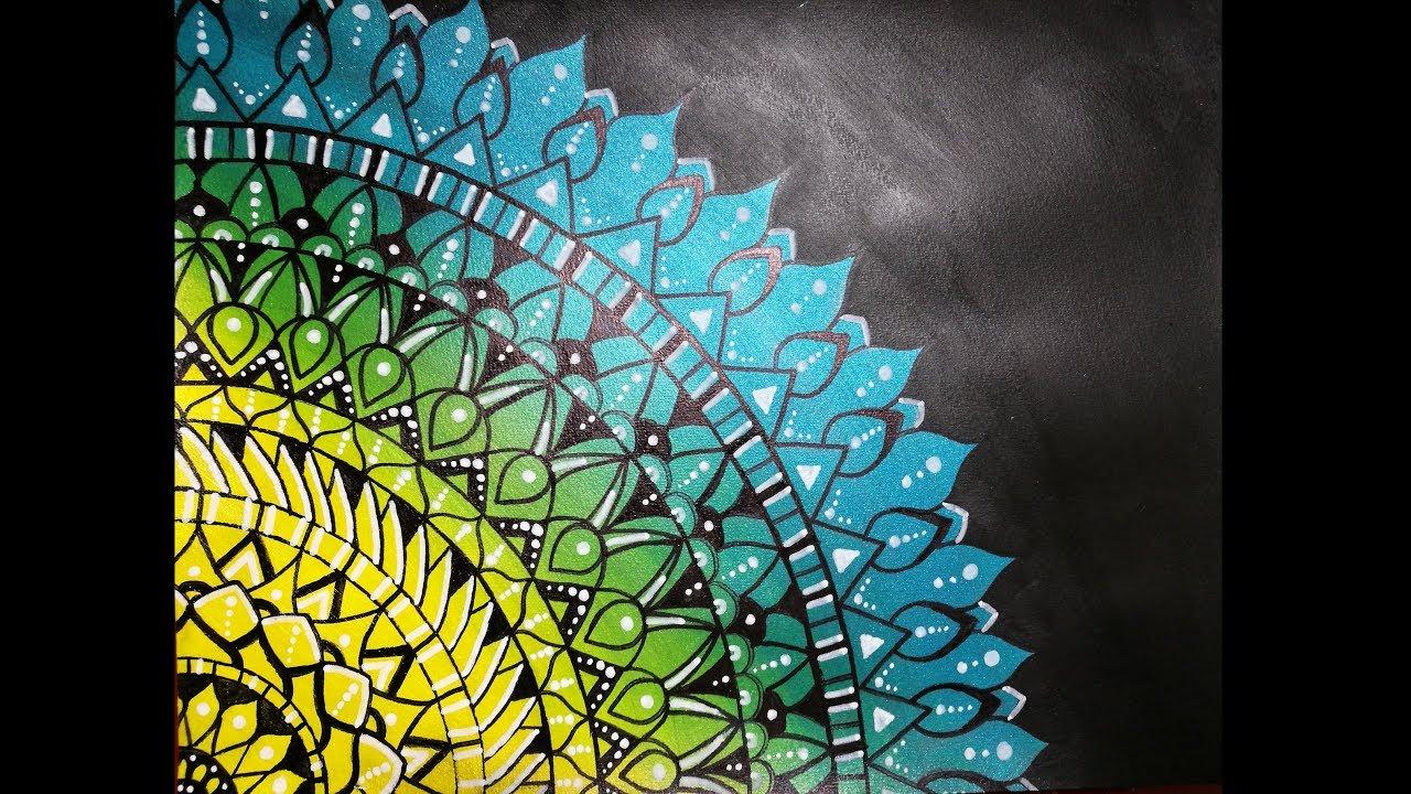 Mandala Peinture Acrylique Facile Youtube