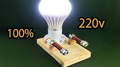 100% Free Energy Generator Self Running by Magnet With Light Bulb 220v