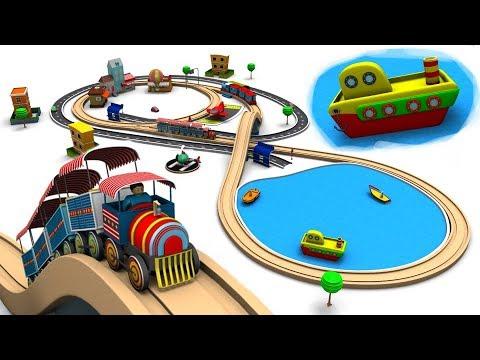 Train Cartoon - Trains for kids - Cartoon For Children - Cars For Kids - Toy Factory Cartoon