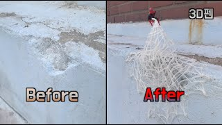 3D펜으로 스파이더맨 만들어 부서진 벽 꾸미기 : Create Spider-Man with 3D Pen to decorate Broken Walls