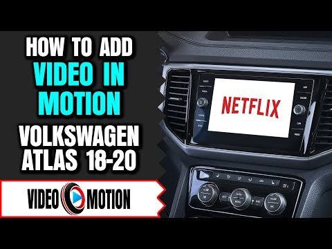 Volkswagen Atlas Video In Motion DVD Player Video Bypass While Driving HDMI USB TV DVD Apple CarPlay