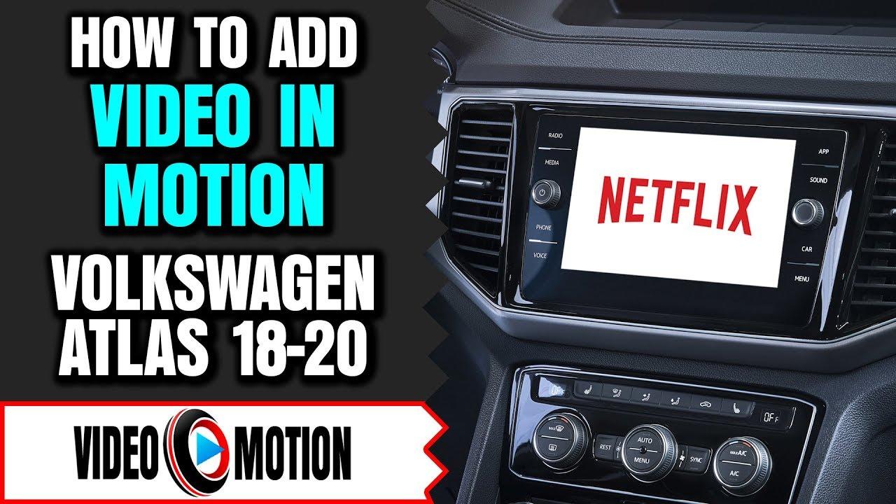 volkswagen atlas video  motion dvd player video bypass  driving hdmi usb tv dvd apple