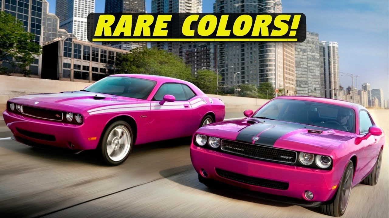 2008-2017 Rare Dodge Challenger Limited Edition Paint & Model List ...