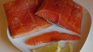 Копчение филе лосося в домашних условиях.