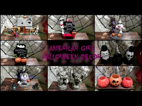 American Girl Doll House Halloween Decor | Doll-Sized Items