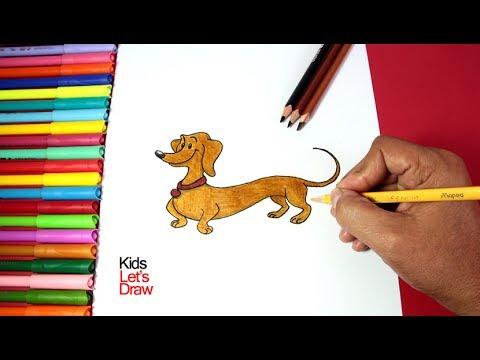 Cómo Dibujar A Hundley El Perro Salchicha (Jorge El Curioso)   How To Draw Hundley (Curious George)
