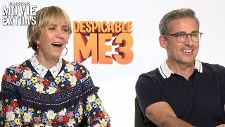 Despicable me 3 (2017) Steve Carell & Kristen Wiig talk about their experience making the movie