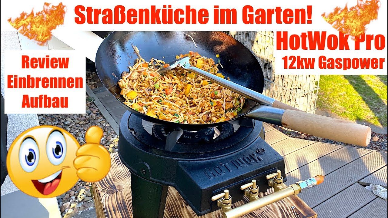 Hot Wok Pro 12kw Gaskocher Kraftpaket, street food daheim #outdoorkochen #outdoorküche