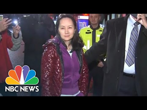 Huawei Executive Wanted By U.S. Dodges Reporters Questions After Bail In Vancouver | NBC News