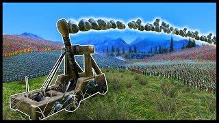 UEBS - Ultimate Epic Battle Simulator - 1 MEGA FULLY AUTO CATAPULT vs 100,000 USING EVERY UNIT!