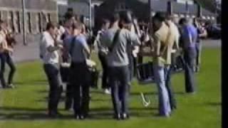 The Royal Scots Dragoon Guards Pipe Band Band Practice at Redford Barracks Edinburgh 1984