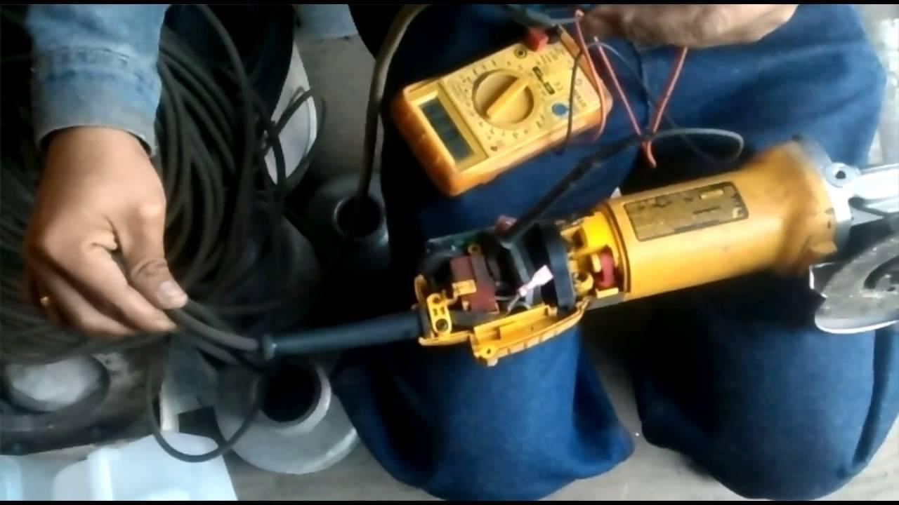 Wiring Diagram Motor Reparando Amoladora Dewalt Youtube