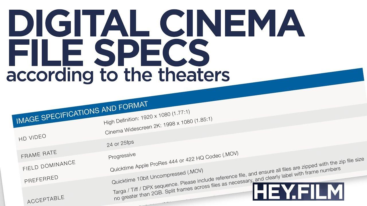 Digital Cinema Specs | Hey.film podcast ep61 - YouTube