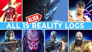 ALL 15 Reality Logs from Jonesy (*NEW* ALIEN PORTAL, Flash, Tron, Street Fighter,...)